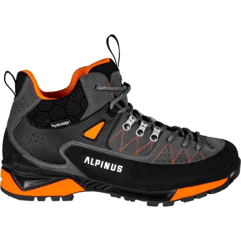 Buty trekkingowe Alpinus The Ridge Mid Pro antracytowo-pomarańczowe GR43288 szare