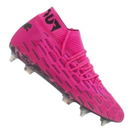 Buty piłkarskie Puma Future 6.1 Netfit Mx Sg M 106178-03 różowe wielokolorowe