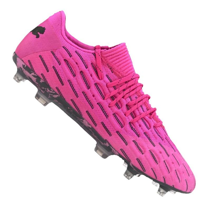 Buty piłkarskie Puma Future 6.1 Netfit Low Fg / Ag M 106182-03 różowe wielokolorowe