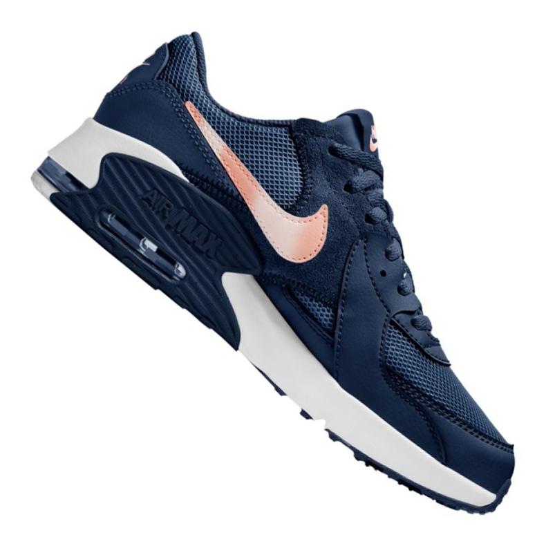 Buty Nike Air Max Excee Gs Jr CD6894-400 białe granatowe