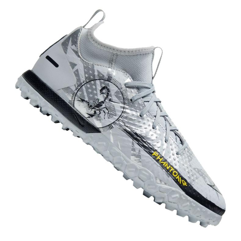 Buty piłkarskie Nike Phantom Gt Academy Df Se Tf Jr DA2289-001 srebrny wielokolorowe