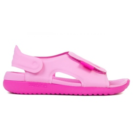 Sandały Nike Sundray Adjust 5 Jr AJ9076-601 czarne różowe