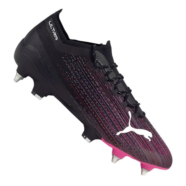 Buty piłkarskie Puma Ultra 1.1 Mx Sg M 106076-03 czarny, czarny, fioletowy czarne