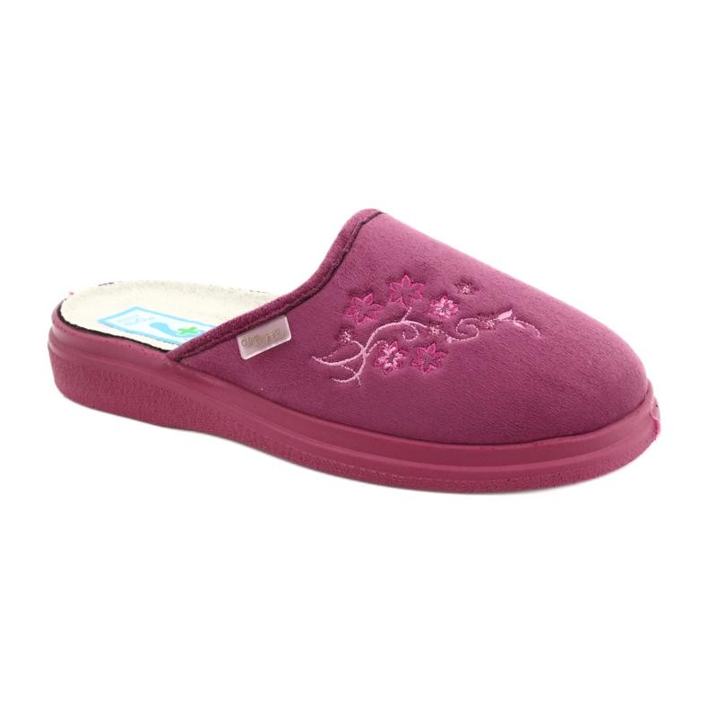 Befado obuwie damskie  pu 132D014 różowe