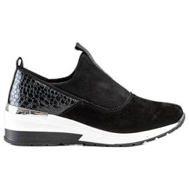 Filippo Wsuwane Sneakersy Ze Skóry czarne