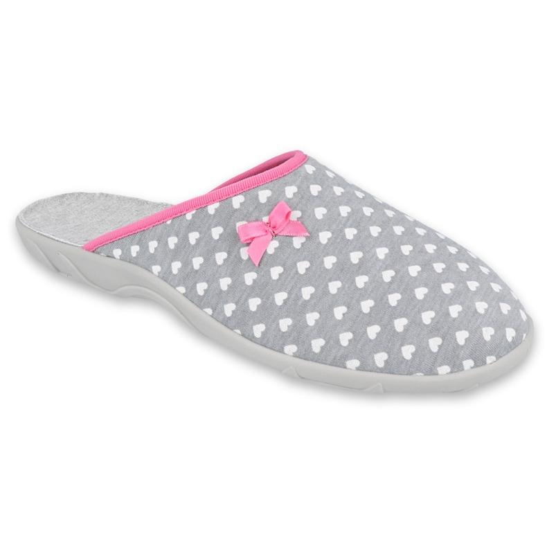 Befado obuwie damskie pu 235D174 białe różowe szare