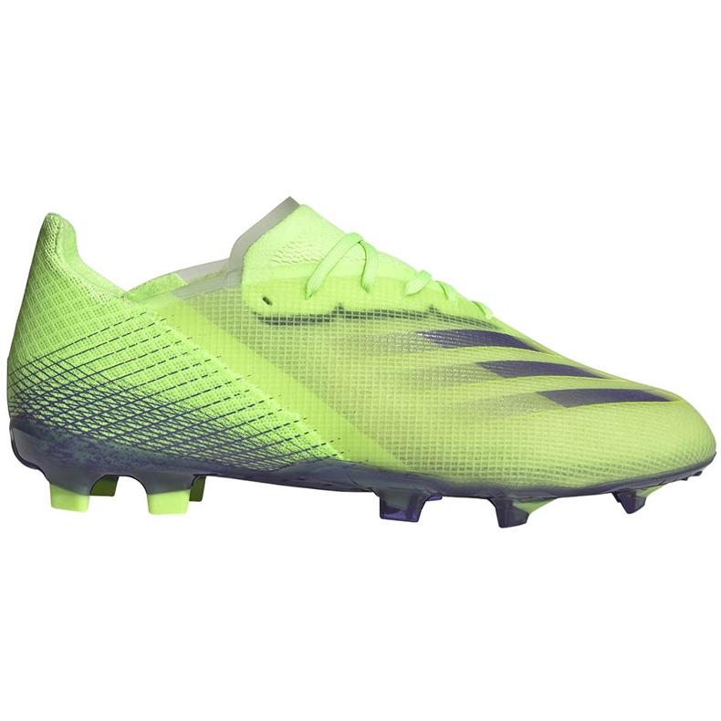 Buty piłkarskie adidas X Ghosted.1 Fg Junior zielone EG8180