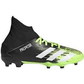 Buty piłkarskie adidas Predator 20.3 Fg Junior czarno-zielone EH3024