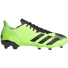 Buty piłkarskie adidas Predator 20.2 Fg zielono-czarne EH2932 zielone zielone