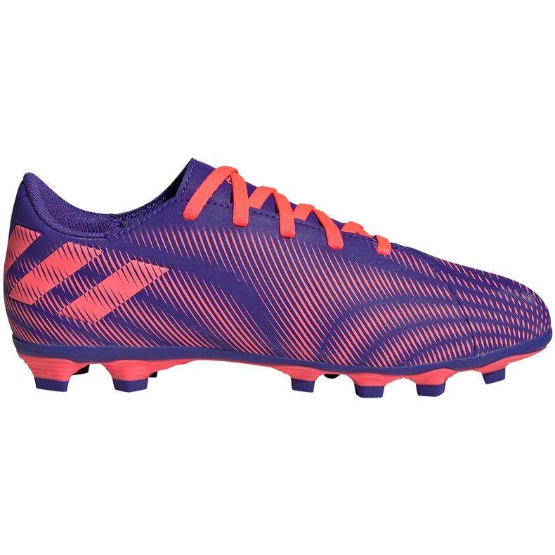 Buty piłkarskie adidas Nemeziz.4 FxG Junior fioletowo-różowe EH0585 fioletowe