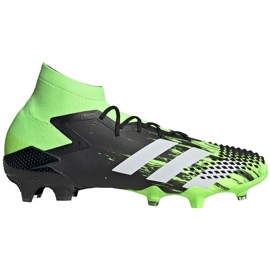 Buty piłkarskie adidas Predator Mutator 20.1 Fg czarno-zielone EH2892