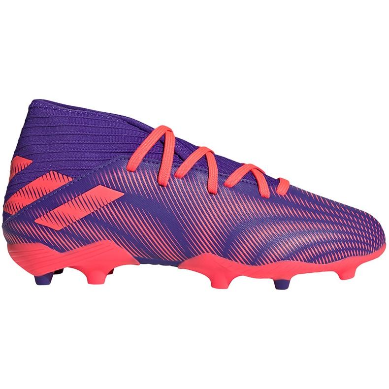 Buty piłkarskie adidas Nemeziz.3 Fg Junior fioletowe EH0580