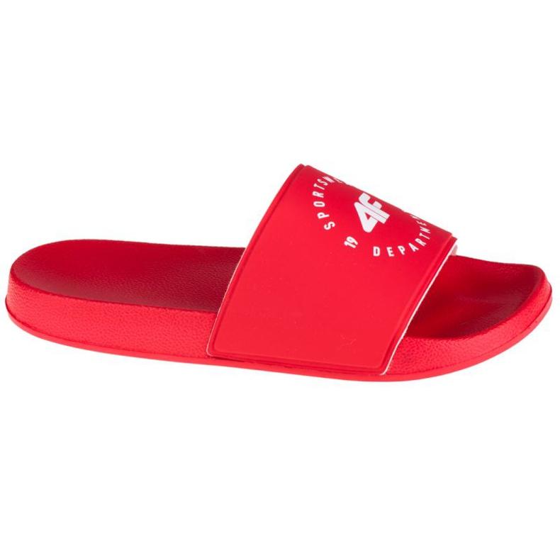 Klapki 4F Thongs H4Z20-KLD001 62S białe czerwone