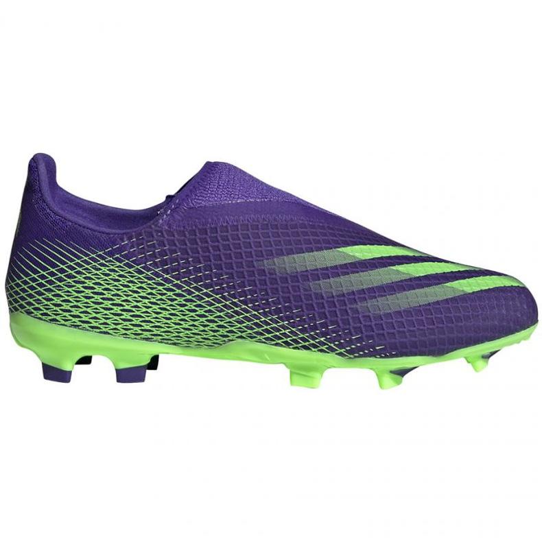 Buty piłkarskie adidas X Ghosted.3 Ll Fg Jr EH2015 zielony, fioletowy fioletowe