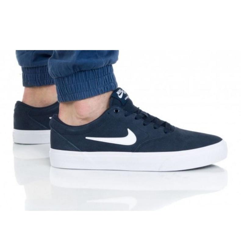 Buty Nike Sb Charge Suede M CT3463-401 białe granatowe