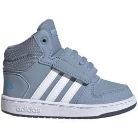 Buty dla dzieci adidas Hoops Mid 2.0 niebieskie FW4922