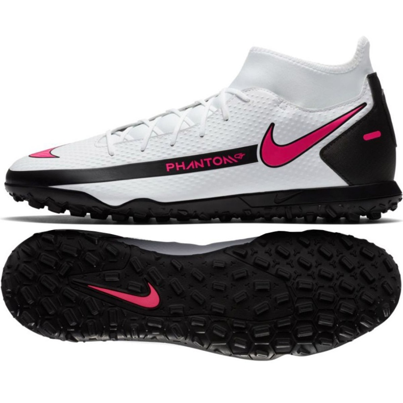 Buty piłkarskie Nike Phantom Gt Club Df Tf CW6670 160 białe wielokolorowe