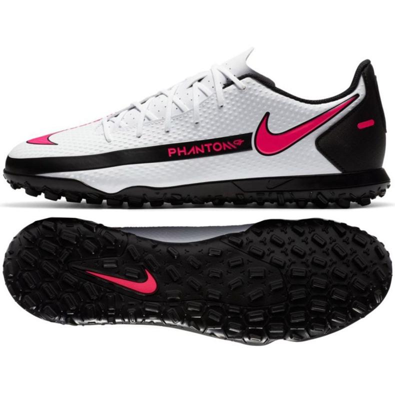 Buty piłkarskie Nike Phantom Gt Club Tf M CK8469 160 białe wielokolorowe