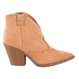 Sweet Shoes Beżowe Kowbojki W Szpic beżowy