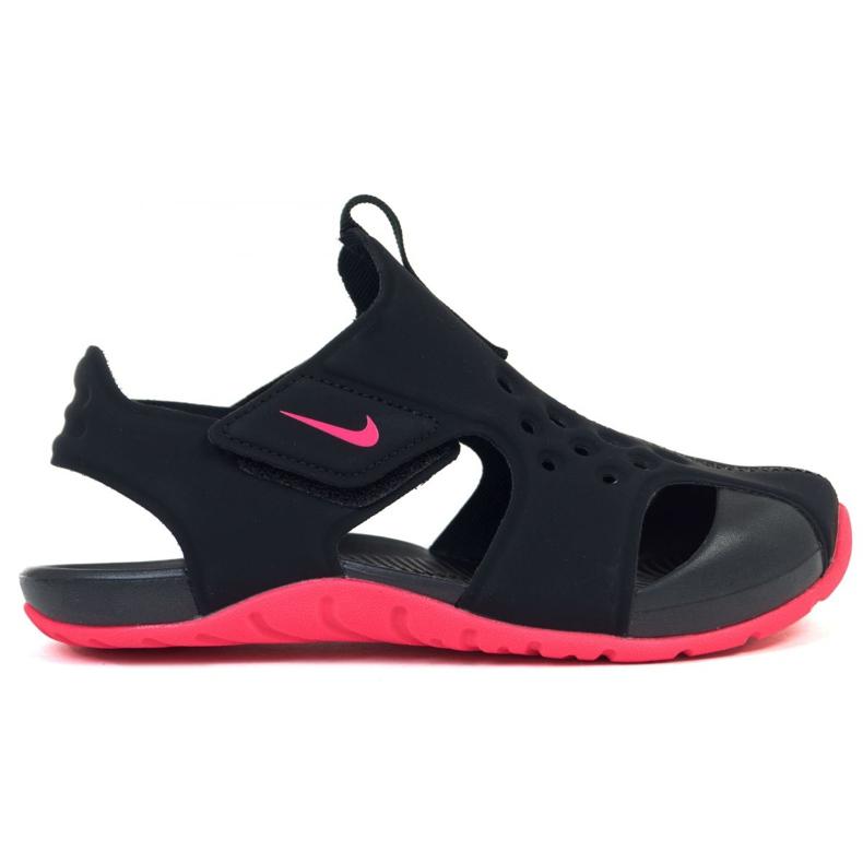 Sandały Nike Sunray Protect 2 (PS) Jr 943826-003 czarne różowe