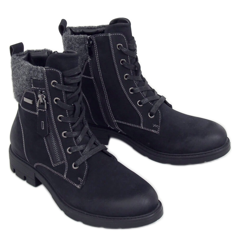 Timberki damskie czarne 4058 Black