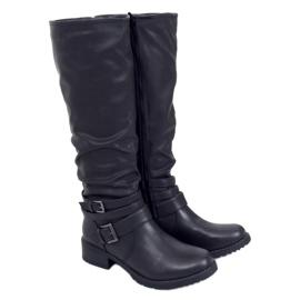 Oficerki damskie czarne 7501 Black
