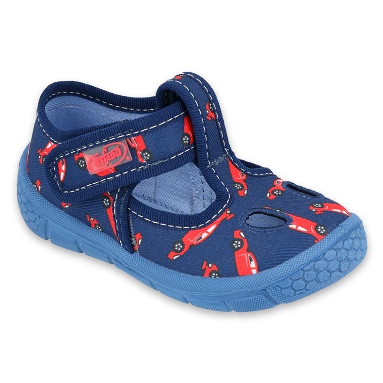 Befado  obuwie dziecięce  533P012 czerwone granatowe niebieskie