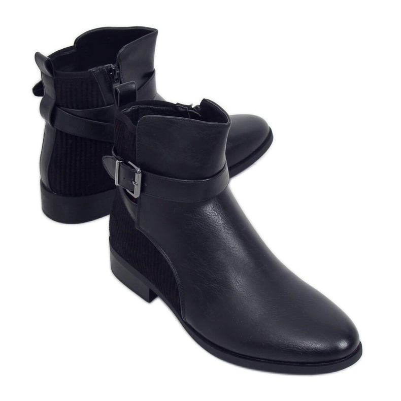 Botki damskie czarne 1058 Black