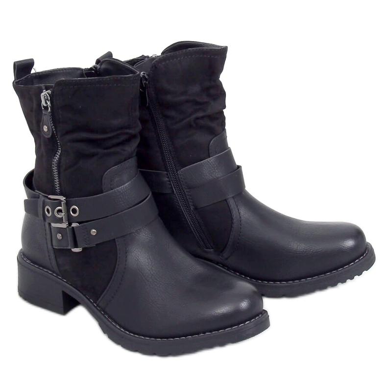 Botki damskie czarne 8056 Black