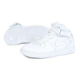 Buty Nike Force 1 Mid Ps Jr 314196-113 białe czarne