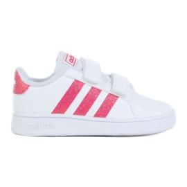 Buty adidas Grand Court I Jr EG3815 białe czarne