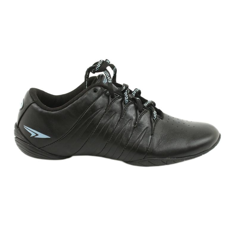 Sprandi Buty sportowe młodzieżowe czarne niebieskie