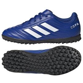 Buty piłkarskie adidas Copa 20.4 Tf Jr EH0931 wielokolorowe niebieskie