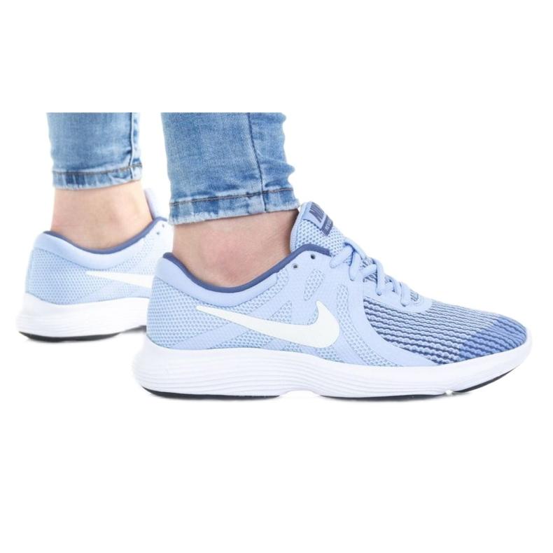 Buty Nike Revolution 4 Gs Jr 943306-401 białe niebieskie