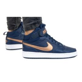 Buty Nike Court Borough Mid 2 Jr CD7782-400 czarne granatowe