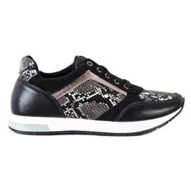 Kylie Modne Sneakersy białe czarne szare