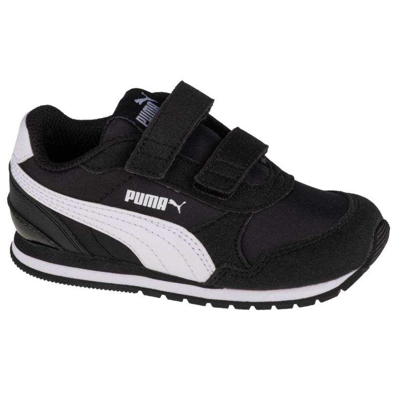 Buty Puma St Runner V2 Infants 365295 01 czarne wielokolorowe