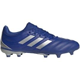 Buty piłkarskie adidas Copa 20.3 Fg M EH1500 niebieski, srebrny niebieskie
