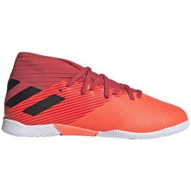 Buty piłkarskie adidas Nemeziz 19.3 In Jr EH0495 wielokolorowe czerwone