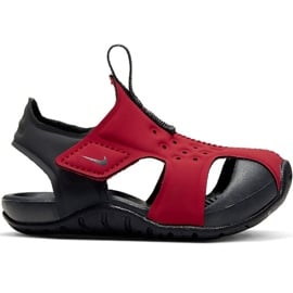 Sandały dla dla dzieci Nike Sunray Protect 2 czerwone 943827 603 czarne
