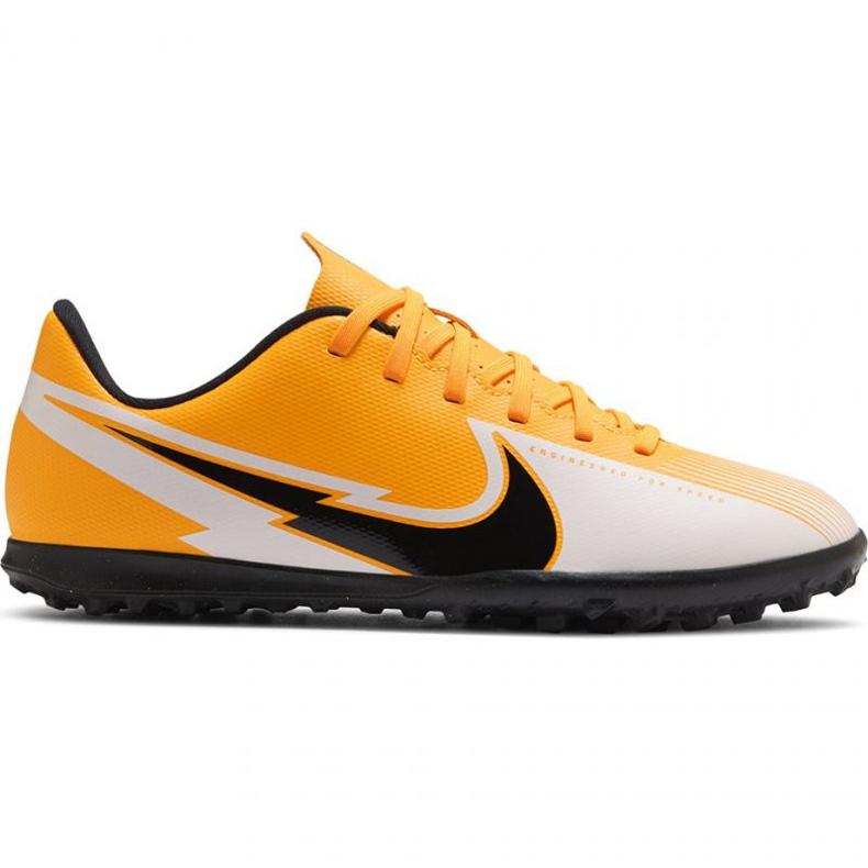 Buty piłkarskie Nike Mercurial Vapor 13 Club Tf Jr AT8177 801 żółte wielokolorowe