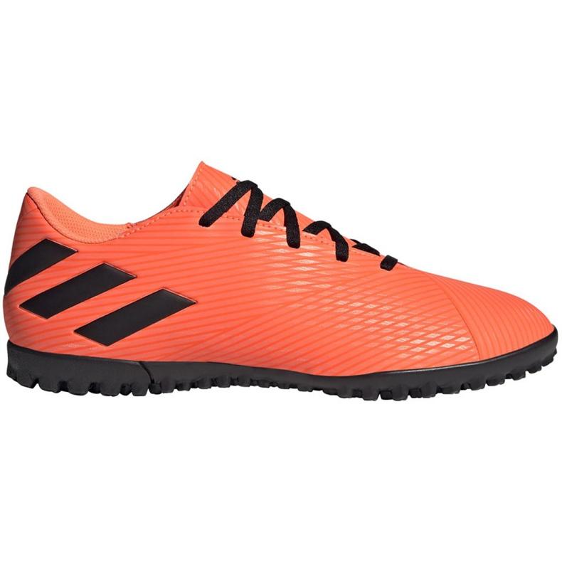 Buty piłkarskie adidas Nemeziz 19.4 Tf M EH0304 pomarańczowe wielokolorowe