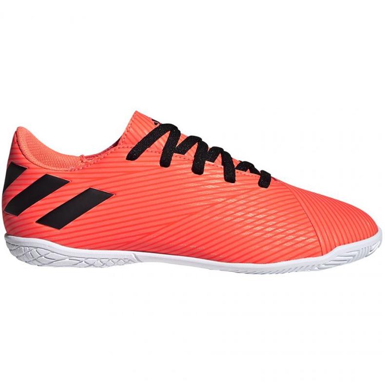 Buty piłkarskie adidas Nemeziz 19.4 In Jr EH0506 pomarańczowe wielokolorowe
