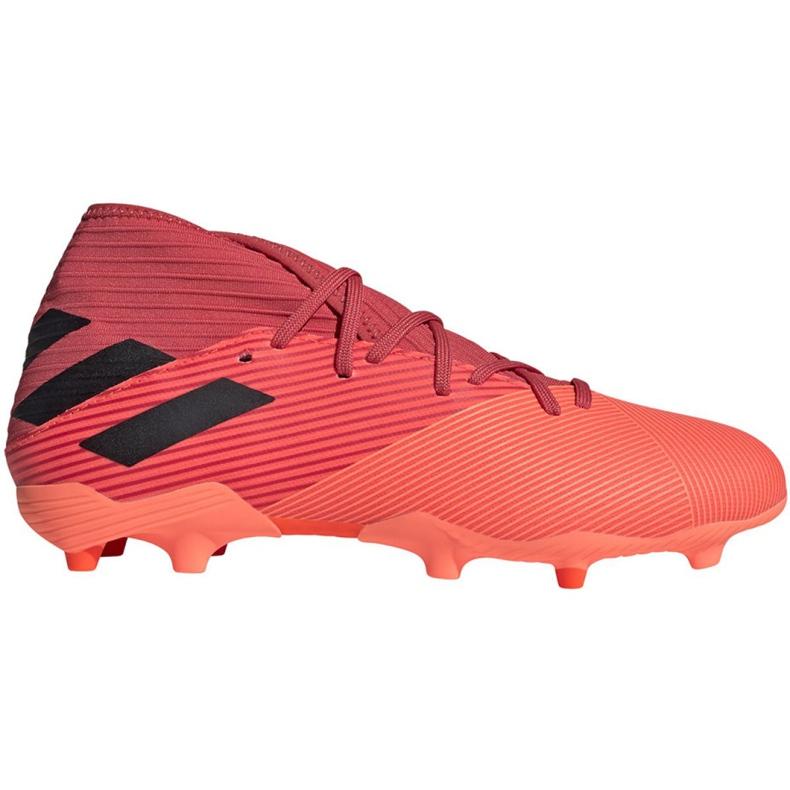 Buty piłkarskie adidas Nemeziz 19.3 Fg M EH0300 pomarańczowe wielokolorowe