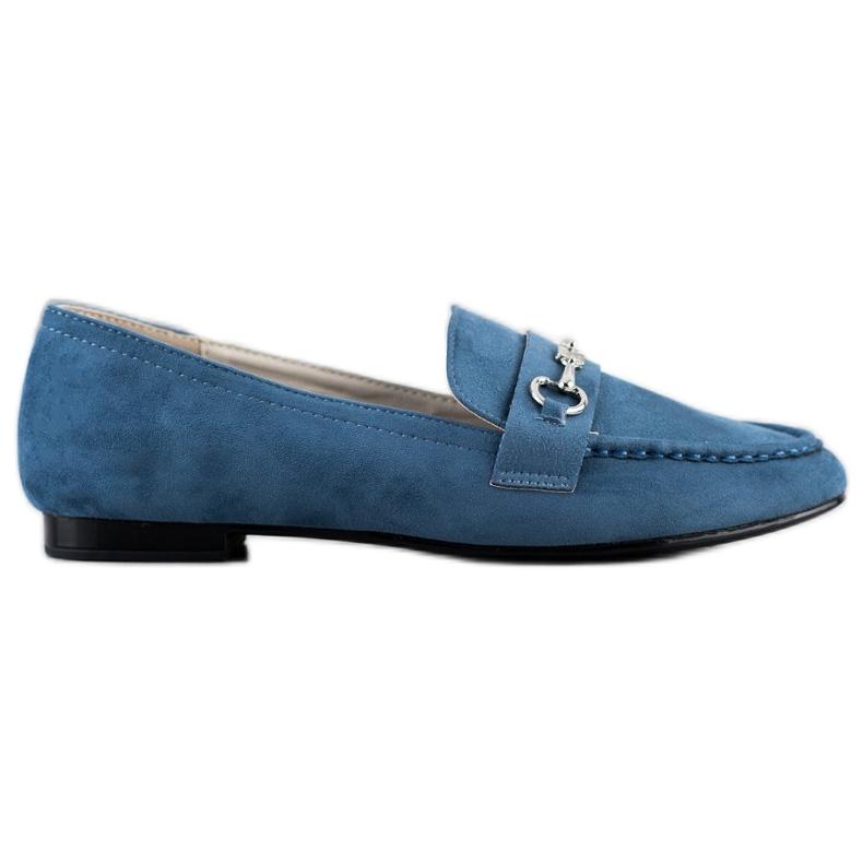 Goodin Eleganckie Mokasyny niebieskie