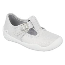 Befado  obuwie dziecięce blanka srebna 115X001 srebrny szare