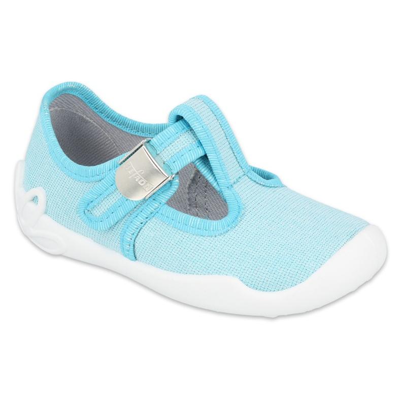 Befado  obuwie dziecięce blanka turkusowa 115X004 niebieskie srebrny