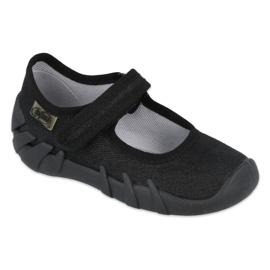 Befado obuwie dziecięce speedy czarne 109P227 srebrny