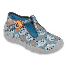 Befado obuwie dziecięce 110P411 szare wielokolorowe