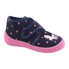 Befado obuwie dziecięce 538P015 granatowe różowe wielokolorowe